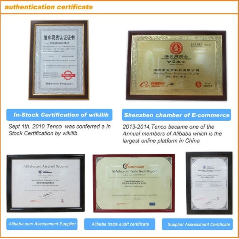 Electronic components certificate
